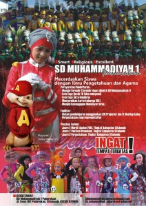 desain poster untuk SD Muhammadiyah 1, Panarukan
