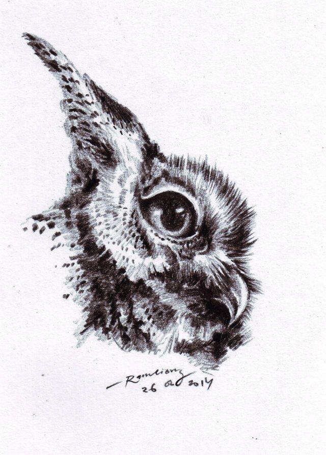 drawing ini dibuat di atas kertas menggunakan pensil arang atau konte