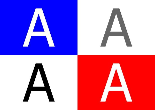 cara menentukan warna tulisan pasa bidang