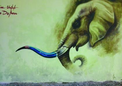 gajah-mural