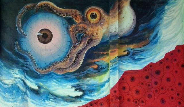 gurita Octopus and eye