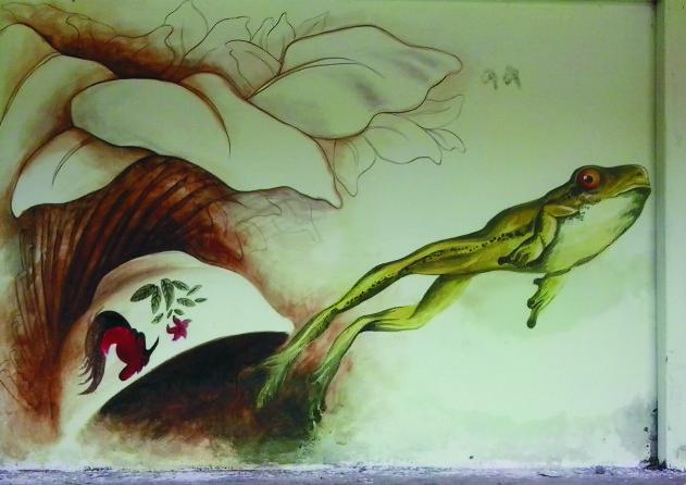 katak dalam mangkok bakso