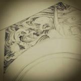 desain mural ombak