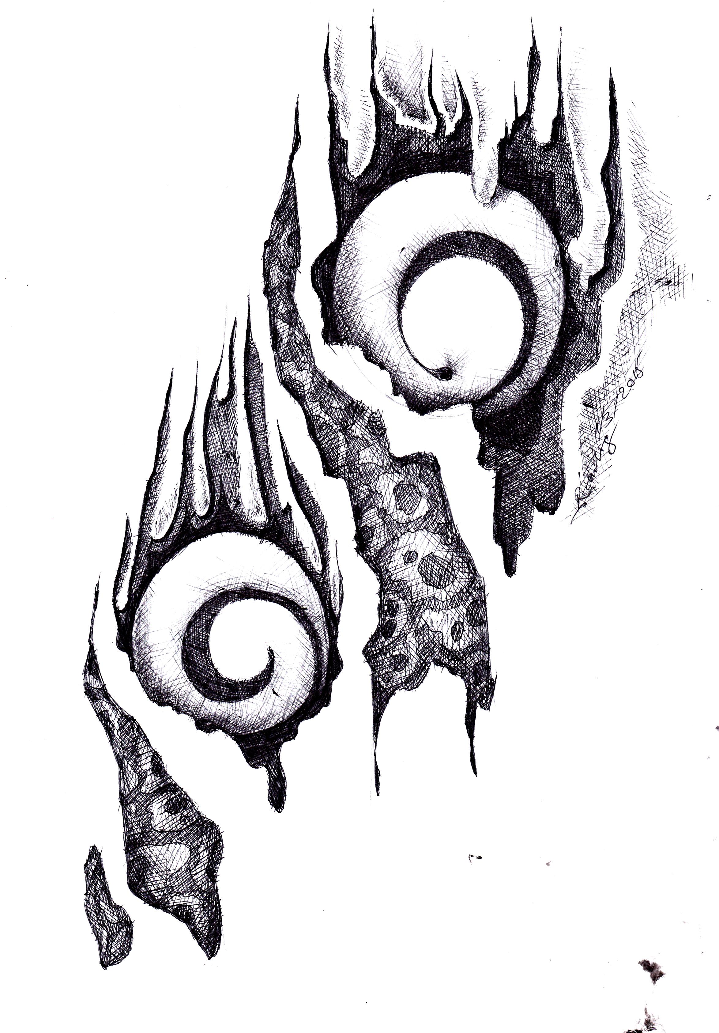 Pameran drawing pen for Mural hitam putih