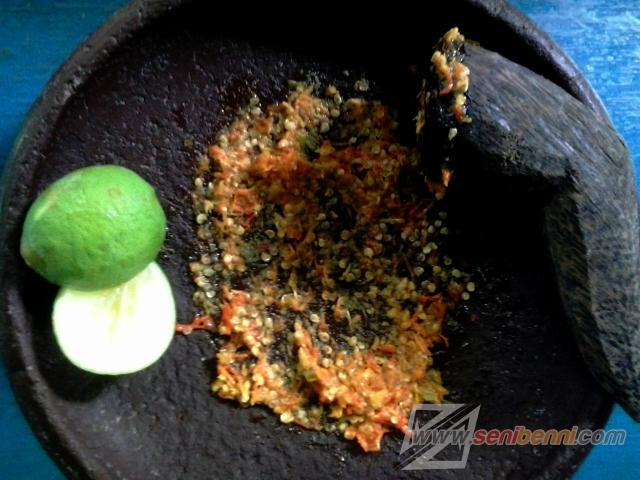 sambal dan jeruk nipis