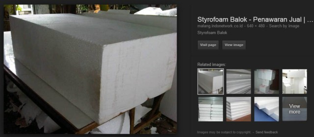 styrofoam balok