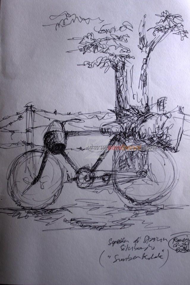 sketsa sepeda